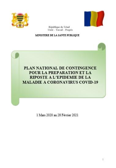 PLAN NATIONAL DE CONTINGENCE POUR LA PRÉPARATION ET LA RIPOSTE A L'EPIDEMIE DE LA MALADIE A CORONAVIRUS COVID-19